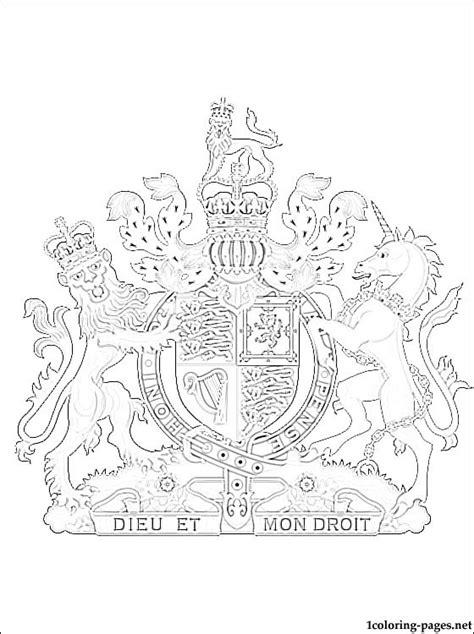coloring pages for united kingdom united kingdom coat of arms coloring page coloring pages
