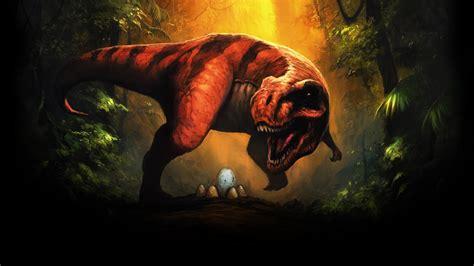 dinosaurs fantasy art tyrannosaurus rex eggs wallpapers
