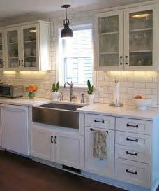 farmhouse style kitchen cabinets joyce s black white kitchen hooked on houses