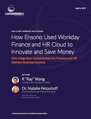 about r ray wang a software insiders point of view research summary how ensono used workday finance and hr