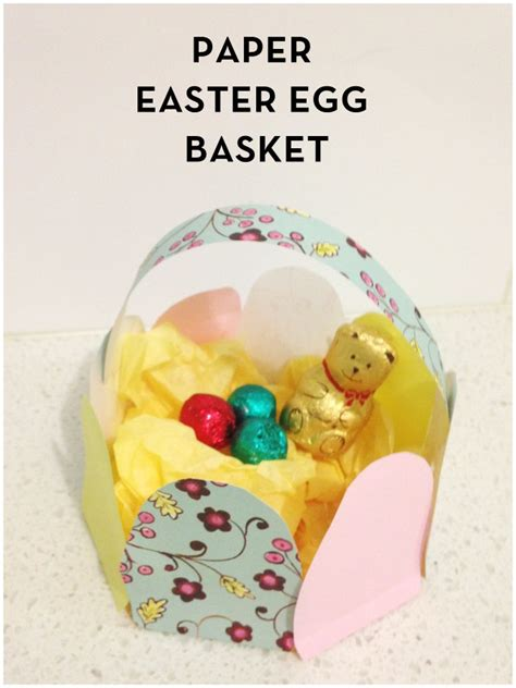 How To Make Easter Eggs Out Of Paper - easter craft paper easter egg basket be a
