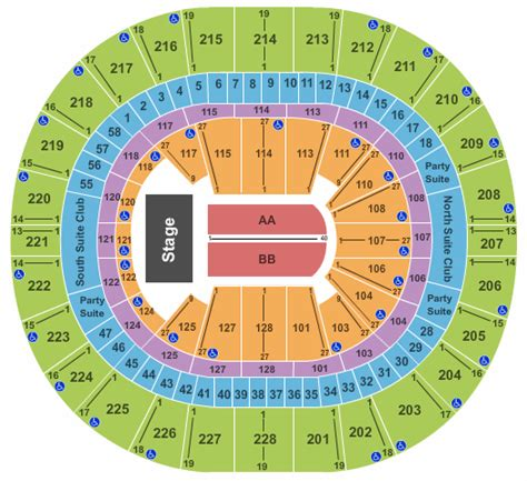 key arena seating pink pink tickets seating chart key arena end stage
