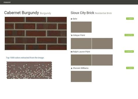 behr paint colors burgundy 1000 images about sioux city brick on ralph