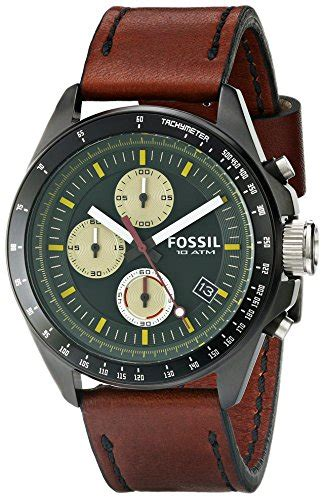 Fossil Gree Brown fossil s ch2920 decker chronograph leather brown with green b00kgtxam0