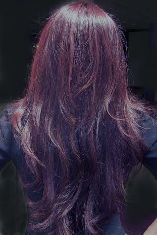 how to blend layers in hair deep cherry in long layers gives you this stunning look