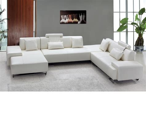dreamfurniture 0695 modern white bonded leather