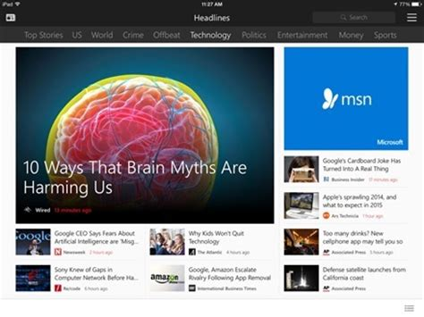 ipad app of the week: new msn apps | ipad insight