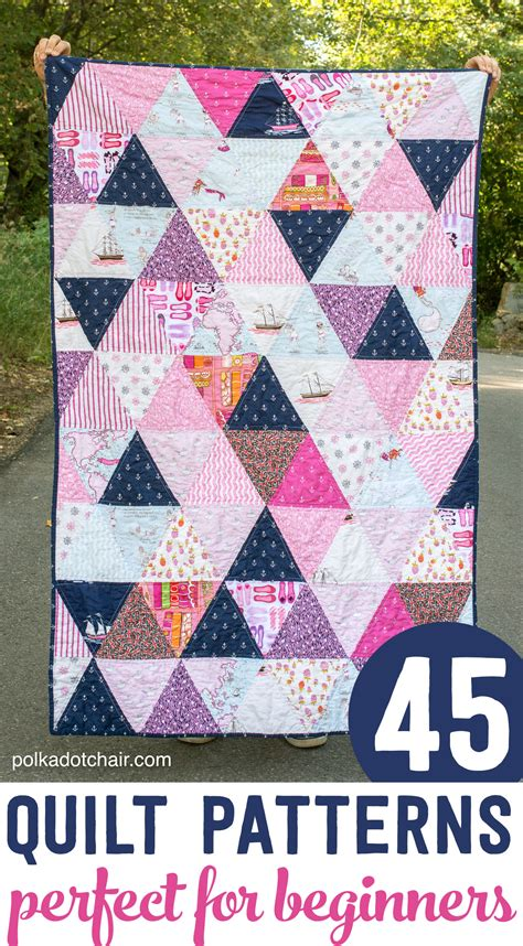 45 Beginner Quilt Patterns And Tutorials On Polka Dot Chair How To Use Quilting Templates