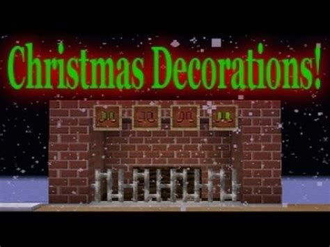minecraft vanilla christmas decorations youtube