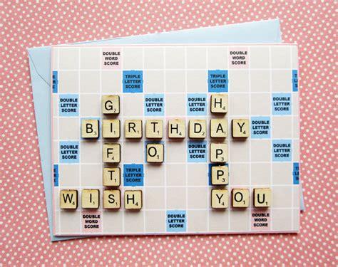 scrabble cards scrabble birthday edition
