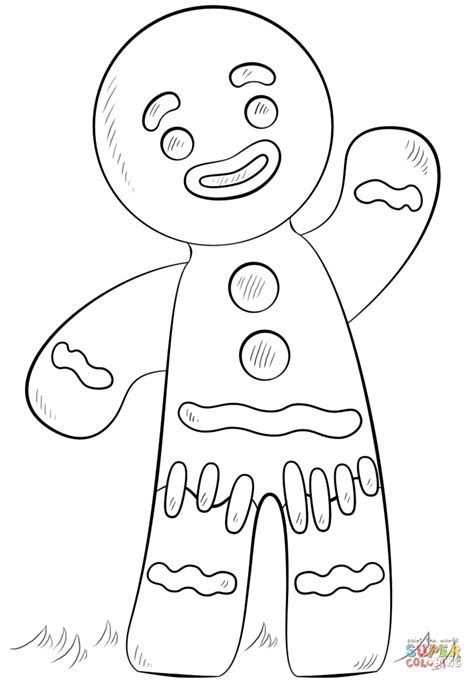 gingerbread boy  girl coloring pages az coloring pages