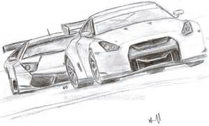 How To Draw A Nissan Gtr Fia Nissan Gt R 2010 And Lambo By Nismo Gtr On Deviantart