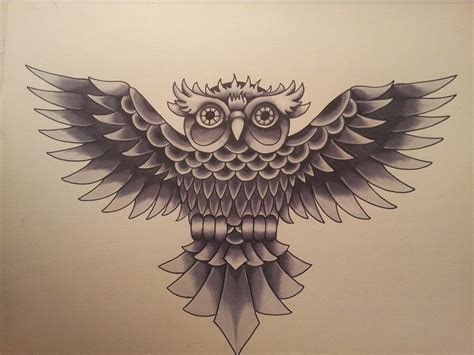 owl tattoo flash school owl flash by jcroe on deviantart