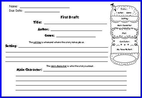 book report forms for 2nd grade cheeseburger book report projects templates printable free book report forms for third grade