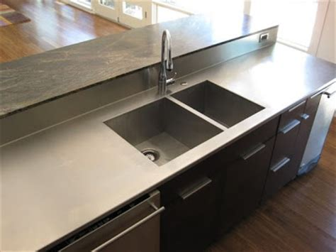 stainless steel countertop with integrated sink c2 design home furnishings stainless steel countertop