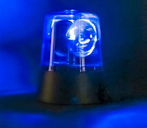 Novelty Rotating Blue Led Police Car Beacon Disco Party Dj Novelty Lights Uk
