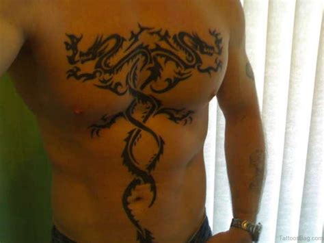 tribal dragon chest tattoos 61 stylish tribal tattoos on chest