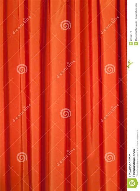 Drapery Valance Orange Curtains Stock Image Image Of Drapery Silk