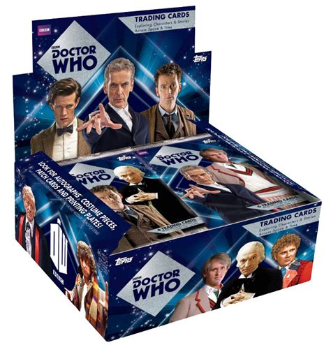 doctor who cards topps doctor who trading cards usa merchandise guide