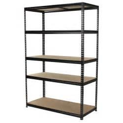 Shelving Unit 1830 X 1200 X 540mm 5 Tier Adjustable Black