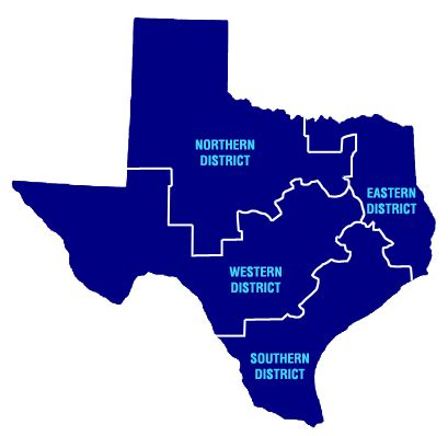 northern district of texas map state bar of texas 2col