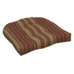 Patio Furniture Cushions Lowes Shop Arden Outdoor Stripe Chili Standard Patio Chair Cushion At Lowes