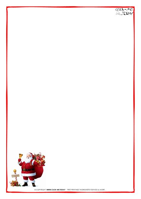 letter to santa template ks2 printable letter to santa claus blank paper santa border 5