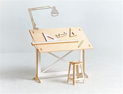 drafting table tools miniature drafting table model kit with real wood tabletop