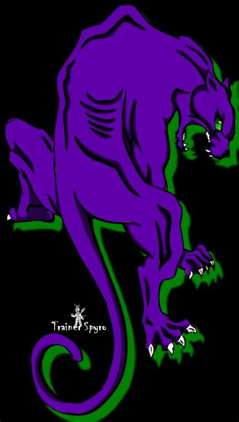 purple panther tattoo purple panther design
