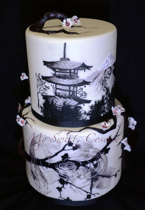 Theme Wedding Cakes by Japanese Theme Wedding Cake Cakecentral