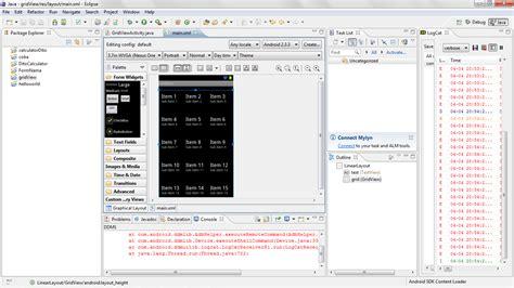 grid layout fill parent membuat grid view dan list view pada android just share