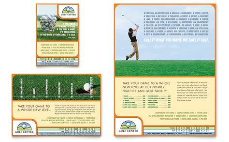 golf instructor course flyer ad template word