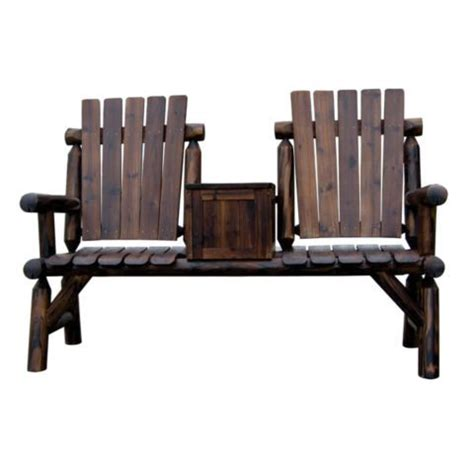 Shed Folding Rocking Chair Shed Stained Log Chair With Storage Box