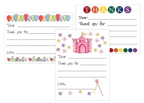 easy thank you card template kindergarten free printable kid s thank you card templates money