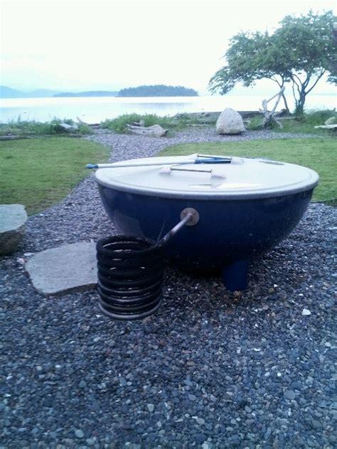 salt water tub heated with firewood guemes island