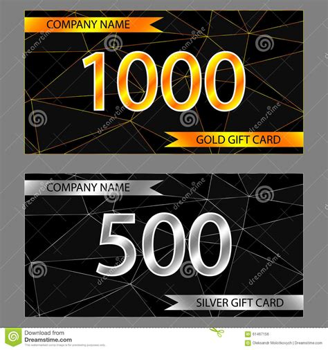 Where To Buy Gold Class Gift Cards - set of gold and silver gift cards stock vector image 61467156