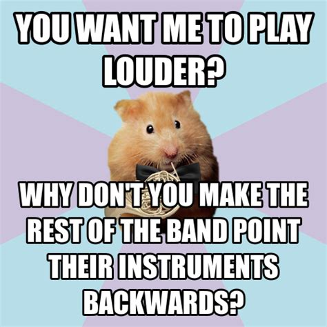 French Horn Memes - hornist hamster tumblr