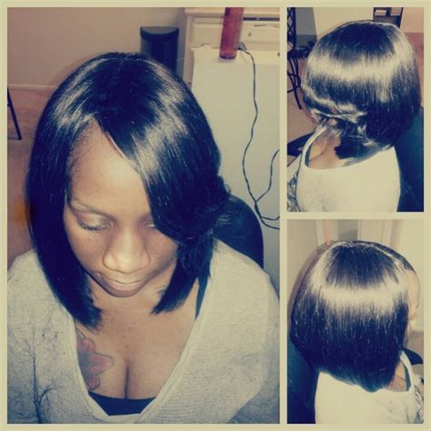 full sew in ponytail no hair out full sew in bob no leave out hair inspiration my work
