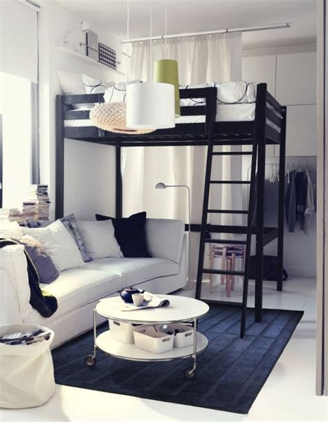 16 loft beds to make your small space feel bigger brit co stor 197 loft bed frame black