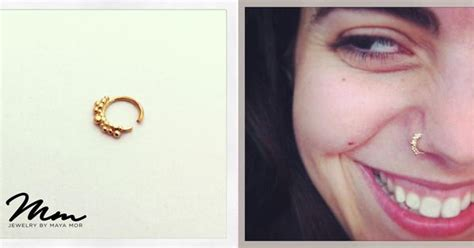 Handmade Nose Rings - handmade filigree nose ring 14k gold jewellery by