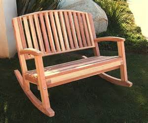 Outside Rocking Chairs Redwood Bench Rocker Bench Redwood Furniture Outdoor