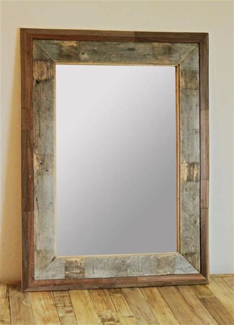 how to frame a bathroom mirror with wood wood pallet mirror frame pallets designs