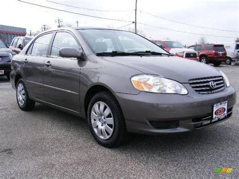 2004 Toyota Le 2004 Moonshadow Gray Metallic Toyota Corolla Le 21444442