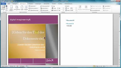 word web layout seitenlayout design in office 2007 und 2010 youtube