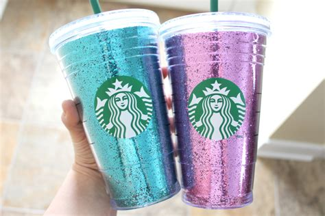 Starbucks Gliter Cold Cup starbucks glitter cup by pretttylittlethings on etsy