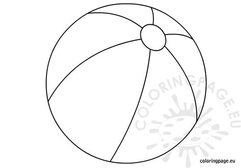 free coloring pages of beach ball printable