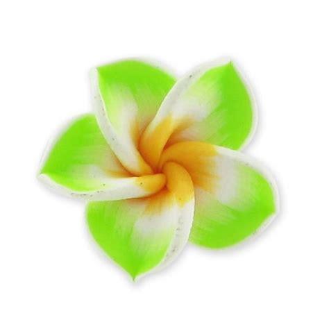 fiore fimo fiore fimo mm 20 verde anice x1 perles co
