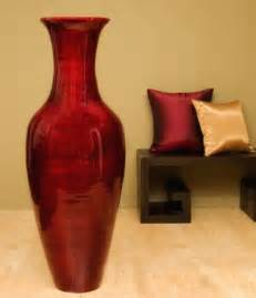 How To Decorate Chinese Lanterns Large Floor Vases 47 Quot Classic Bamboo Floor Vase