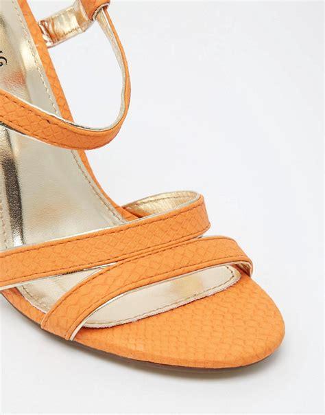 orange strappy sandals call it call it huguette orange strappy