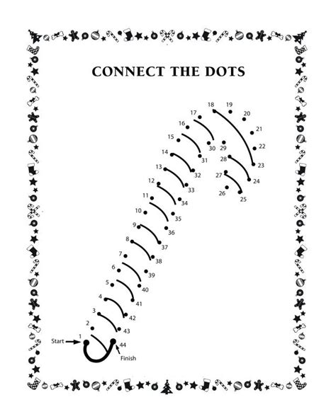 Baby Shower Places by Connect The Dots Candy Cane Free Printable Coloring Pages